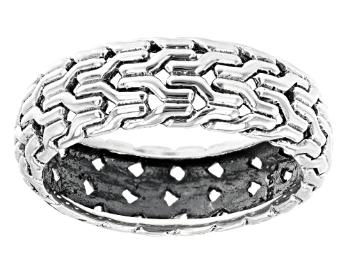 Photo of Artisan Collection of India™ Mens Sterling Silver Band Ring - Size 12