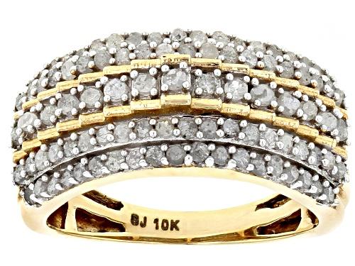 Photo of 1.00ctw Round White Diamond 10k Yellow Gold Ring - Size 7