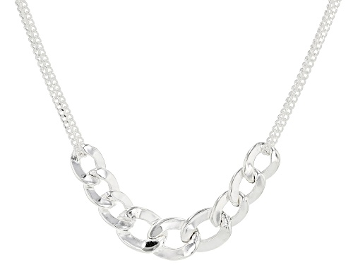 Photo of Sterling Silver Curb Necklace 20 Inches In Length Made in Italy - Size 20