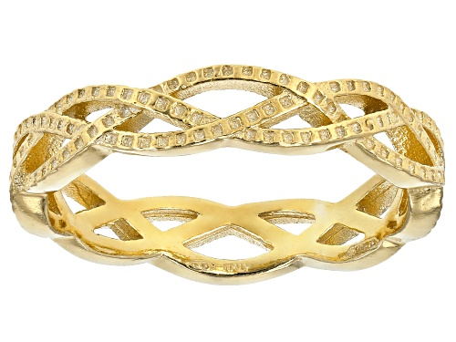 Photo of 18K Yellow Gold Over Sterling Silver Braided Band Ring - Size 7