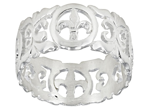 Photo of Fleur De Lis Florentine Lily Ring Sterling Silver - Size 7