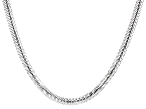 "Photo of Sterling Silver Cashmere Diamond-Cut Snake 4.2mm Necklace 18"" - Size 18"