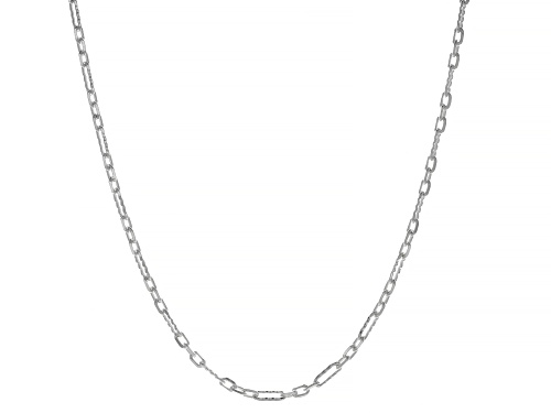 Photo of Sterling Silver Figaro Link Necklace 20 Inches - Size 20