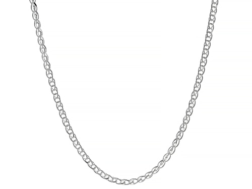 "Photo of Sterling Silver Diamond-Cut Wheat Chain Necklace 20"" - Size 20"