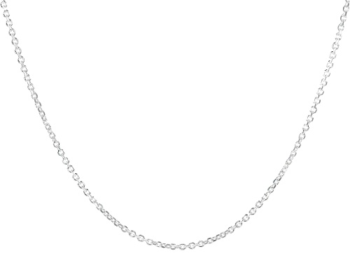 Photo of Sterling Silver Oval Rolo Diamond Cut Necklace 100 Inches - Size 100