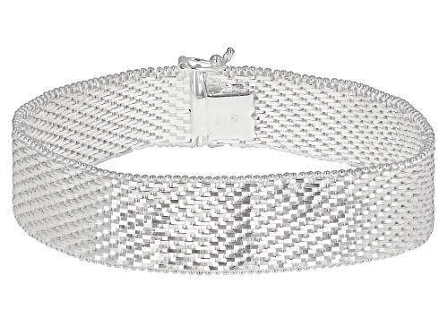 Photo of Sterling Silver Diamond Cut Riccio Bracelet - Size 7.5