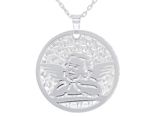 Photo of Sterling Silver Angel Pendant with 17 Inch Cable Chain and 2 Inch Extender