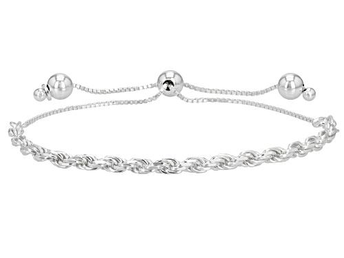 Sterling Silver 3.33MM Bolo Rope 9 Inch Bracelet - Size 9