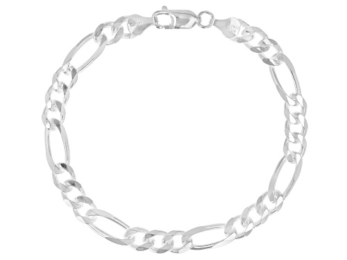 Photo of Sterling Silver 6.5MM Figaro Bracelet - Size 8