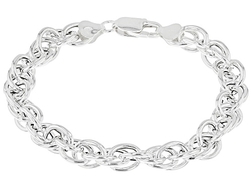 """Photo of Sterling Silver Torchon Rope 7.75"""" Bracelet - Size 7.75"""