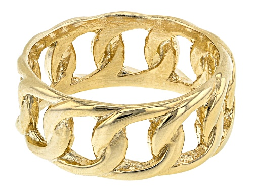 Photo of 18K Yellow Gold Sterling Silver Curb Ring - Size 8