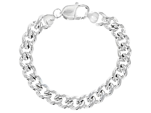 Photo of Sterling Silver 9.50MM Curb Bracelet - Size 7.25