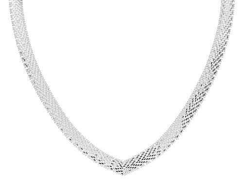 """Photo of Sterling Silver 18"""" V-Shape Necklace - Size 18"""