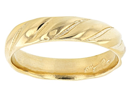 Photo of 18K Yellow Gold Over Sterling Silver Symmetric Design Band Ring - Size 8