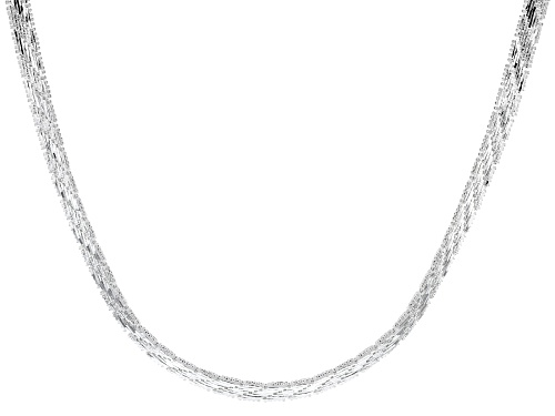 "Photo of Sterling Silver 6.75MM 18"" Riccio Collar Necklace - Size 18"