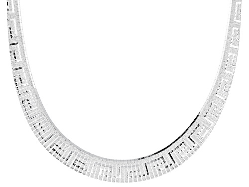 """Photo of Sterling Silver Greek Key Design Graduated Cleopatra 18"""" Necklace - Size 18"""