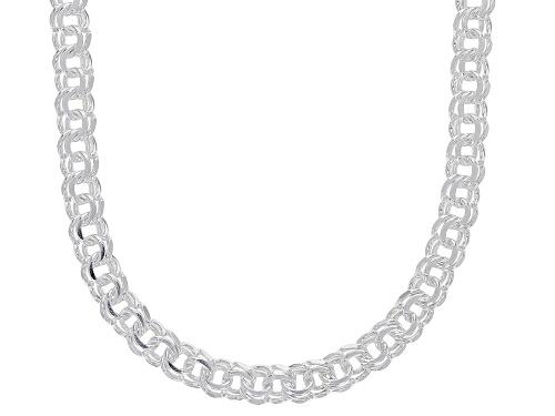 Photo of Sterling Silver 3.65MM Diamond-Cut Designer Garibaldi Chain 20 Inch Necklace - Size 20