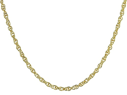 """Photo of 18K Yellow Gold Over Sterling Silver 2.07MM Torchon 18"""" Necklace - Size 18"""