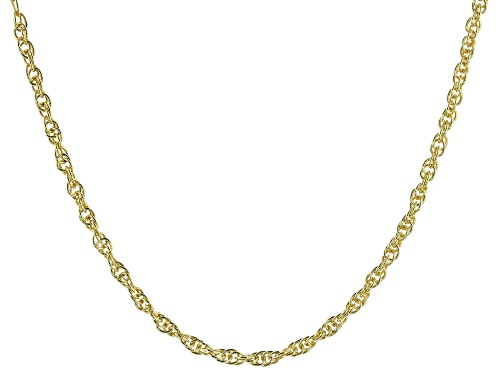 """Photo of 18K Yellow Gold Over Sterling Silver 2.07MM Torchon 20"""" Necklace - Size 20"""