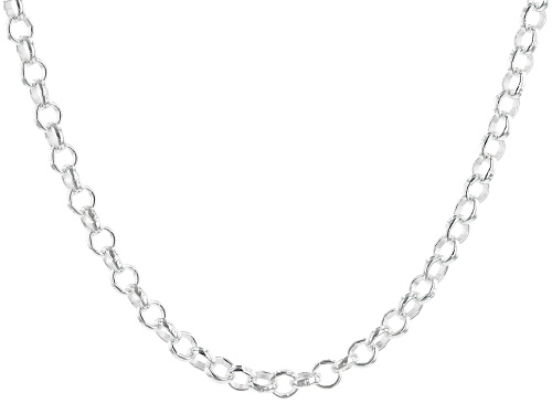 """Photo of Sterling Silver 3.45MM Rolo 20"""" Necklace - Size 20"""