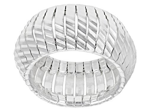 Photo of Sterling Silver Diamond Cut V Shape Ring - Size 7