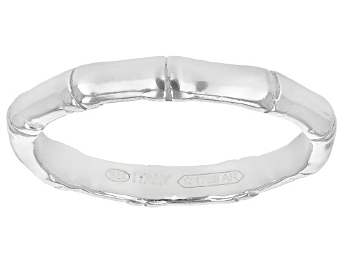 Photo of Sterling Silver Bamboo Band Ring - Size 7