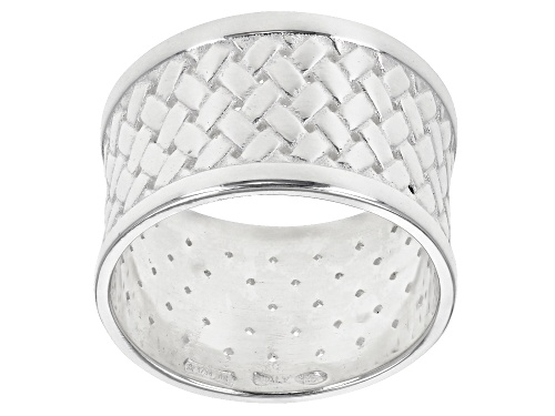 Photo of Sterling Silver Woven Band Ring - Size 8