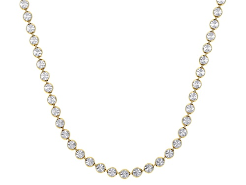 Photo of Sterling Silver and 18K Yellow Gold Over Sterling Silver Star Bead 24 Inch Necklace - Size 24