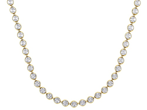 Photo of Sterling Silver and 18K Yellow Gold Over Sterling Silver Star Bead 28 Inch Necklace - Size 28