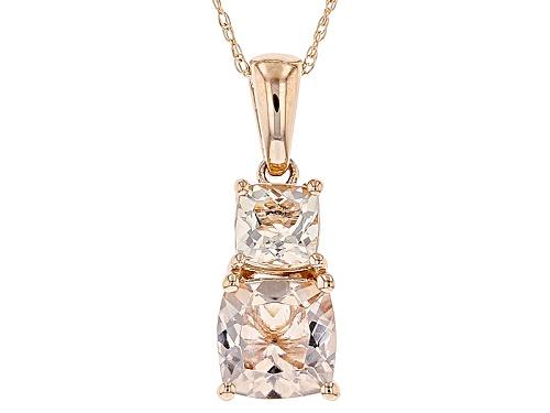 Photo of 1.67ctw Square Cushion Cor-De-Rosa Morganite™ 10k Rose Gold Pendant With Chain