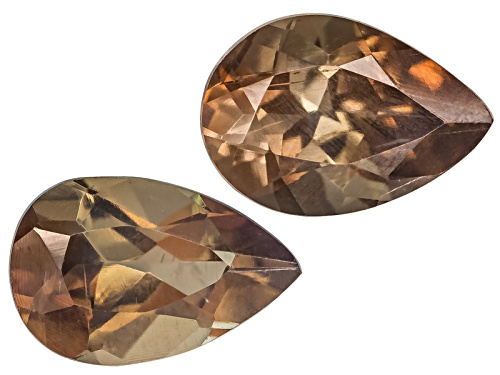 Photo of Brazilian Andalusite Set Of Two Avg .70ctw 6x4mm Pear Shape