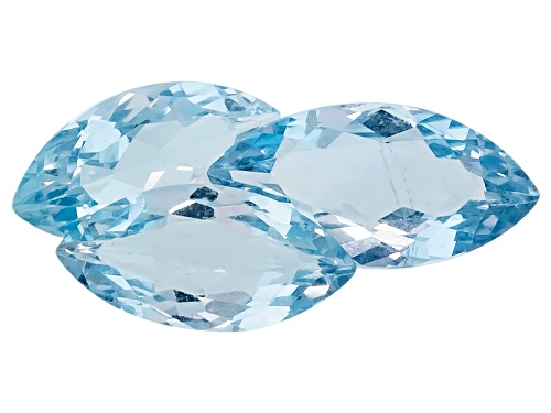 Photo of Tanjaka Aquamarine™ Set Of Three Min 2.60ctw Mm Varies Marquise