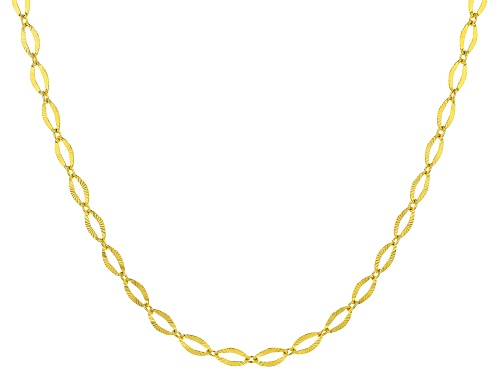 "Photo of 10KT Yellow Gold Diamond Cut Oval Necklace 18"" - Size 18"
