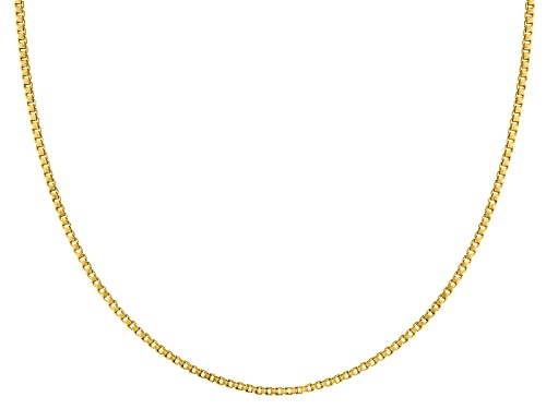 Photo of 10k Yellow Gold Diamond Cut 1.0mm Box 18 Inch Chain Necklace - Size 18