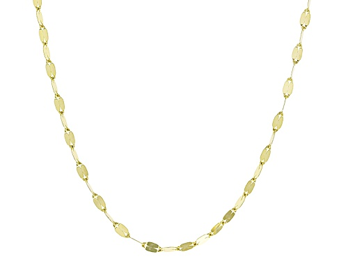 Photo of 10k Yellow Gold Flat Mirror Cable 24 Inch Chain Necklace - Size 24
