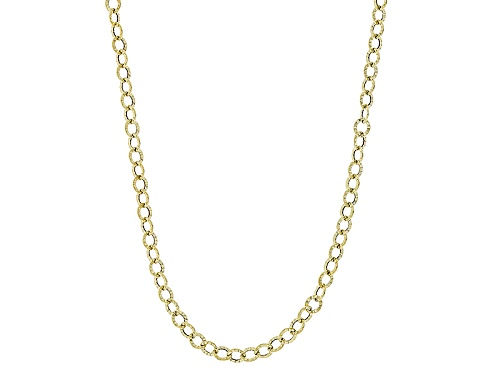 Photo of 10k Yellow Gold Flat Textured Cable 18 Inch Chain Necklace - Size 18