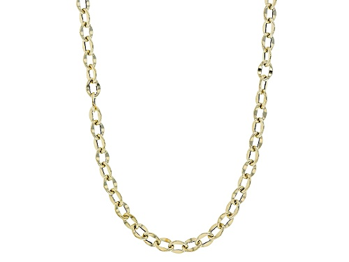 Photo of 10k Yellow Gold Polished Flat Cable 24 Inch Chain Necklace - Size 24