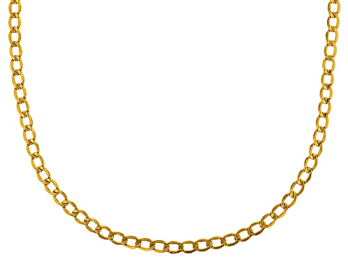 Photo of 10k Yellow Gold Diamond Cut Curb 20 Inch Chain Necklace - Size 20
