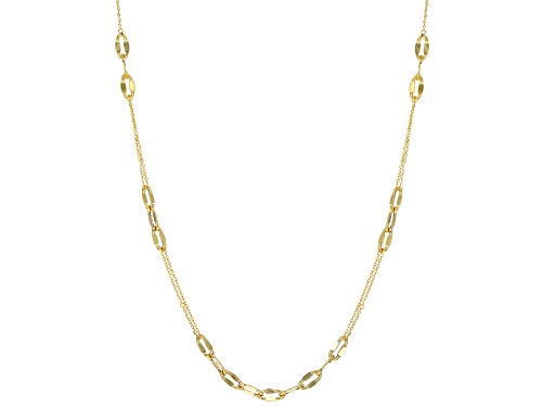 Photo of 10k Yellow Gold Mirror Cable Station 24 Inch Necklace - Size 24