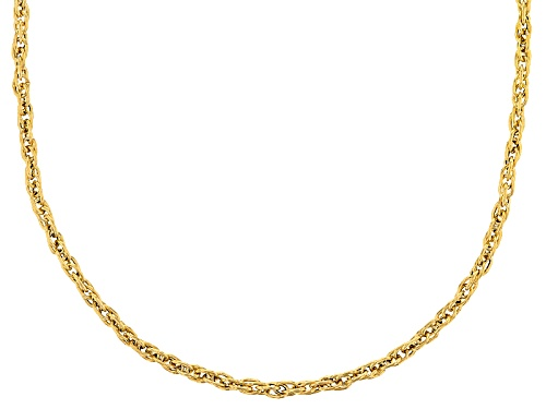 Photo of 10k Yellow Gold Rope 18 Inch Chain Necklace - Size 18