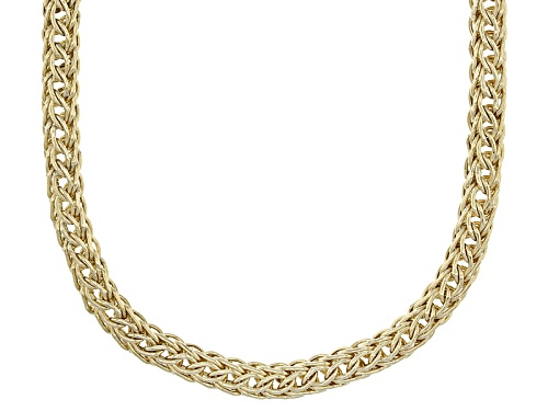 Photo of 10k Yellow Gold 4.5mm Round Wheat 18 Inch Necklace - Size 18