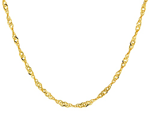 Photo of 14k Yellow Gold 1.5mm Singapore 20 Inch Chain Necklace - Size 20