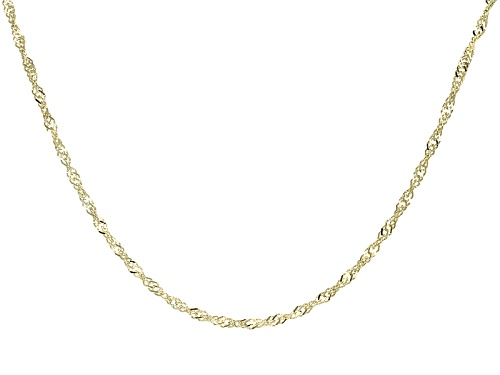 Photo of 14k Yellow Gold Singapore 18 Inch Chain Necklace - Size 18