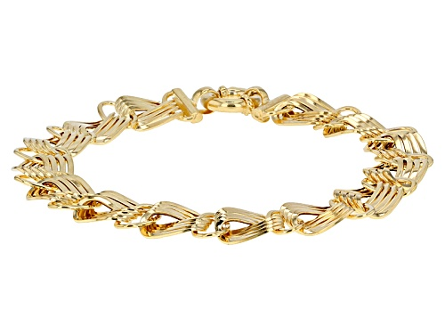 Photo of 10k Yellow Gold Flat Curb 7 1/2 Inch Bracelet - Size 7.5