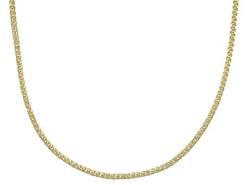 Photo of 14k Yellow Gold Diamond Cut Wheat 18 Inch Chain Necklace - Size 18