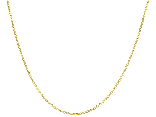 Photo of 10k Yellow Gold Diamond Cut Cable 18 Inch Chain Necklace - Size 18