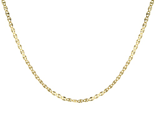 Photo of 10k Yellow Gold Polished Mariner 20 Inch Chain Necklace - Size 20