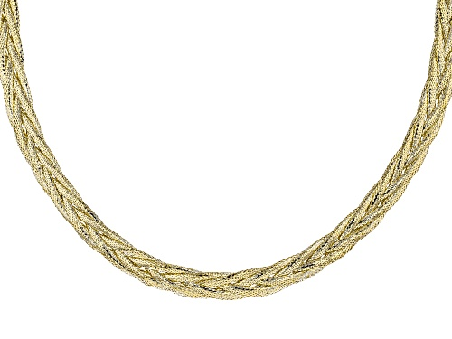 Photo of 10k Yellow Gold Braided Mesh Necklace - Size 18