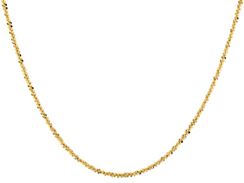Photo of 10k Yellow Gold Criss Cross 22 Inch Chain Necklace - Size 22