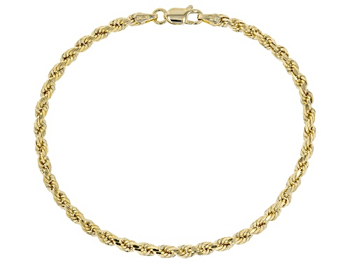 Photo of 10k Yellow Gold 2.7mm Rope 7 1/2 inch Bracelet - Size 7.5